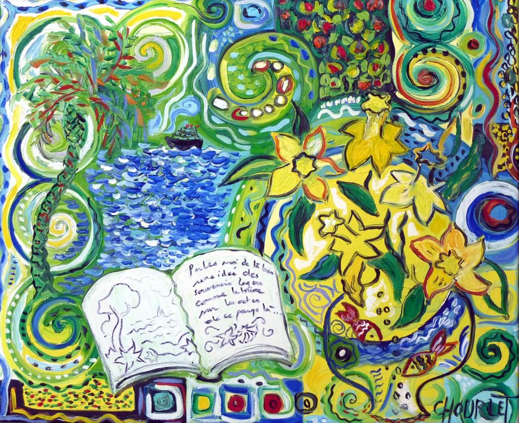 Céline Chourelet »La couleur du voyage«   Öl auf Leinwand | 50 x 61 cm