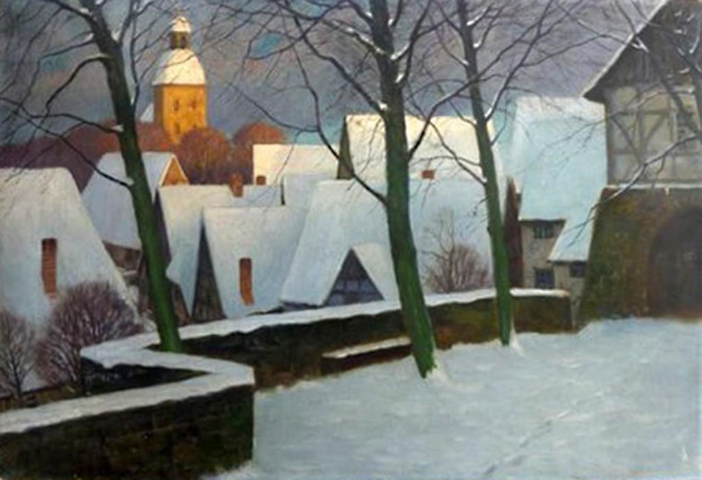 Franz Hecker: »Alte Stadt (Winter)«