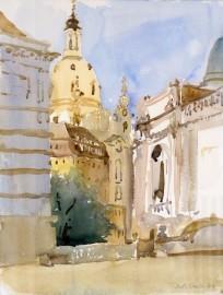 »Frauenkirche Dresden, von der Brühlschen Terrasse aus gesehen«Ruth Stahl