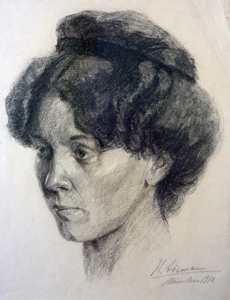 Franz Hecker: »Portrait einer jungen Frau mit Haarband«