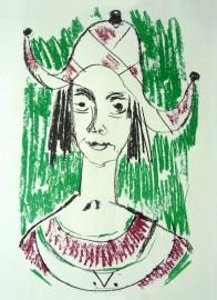 »Clown« Farblithographie | 40 x 25 cm